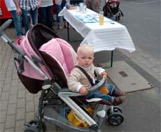 Babys unterwegs wickeln
